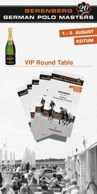 Round Table im VIP-Garten für 6 Personen am Final-Sonntag, den 04.08.2019